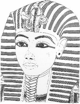 Death mask clipart clipground for King tut mask template