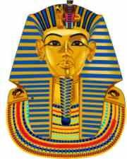 mask from King Tut's tomb.