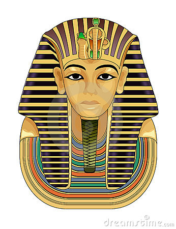Pharaoh Golden Death Mask Stock Photography.