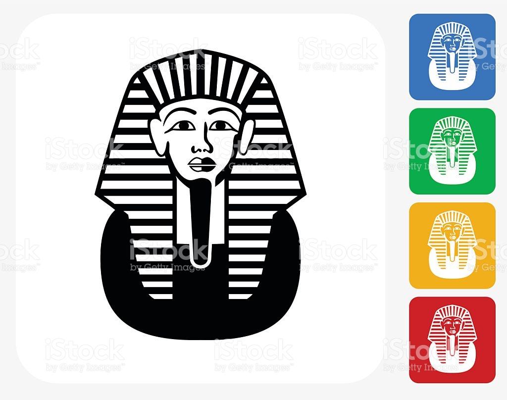 Egyptian Coffin Icon Flat Graphic Design stock vector art.