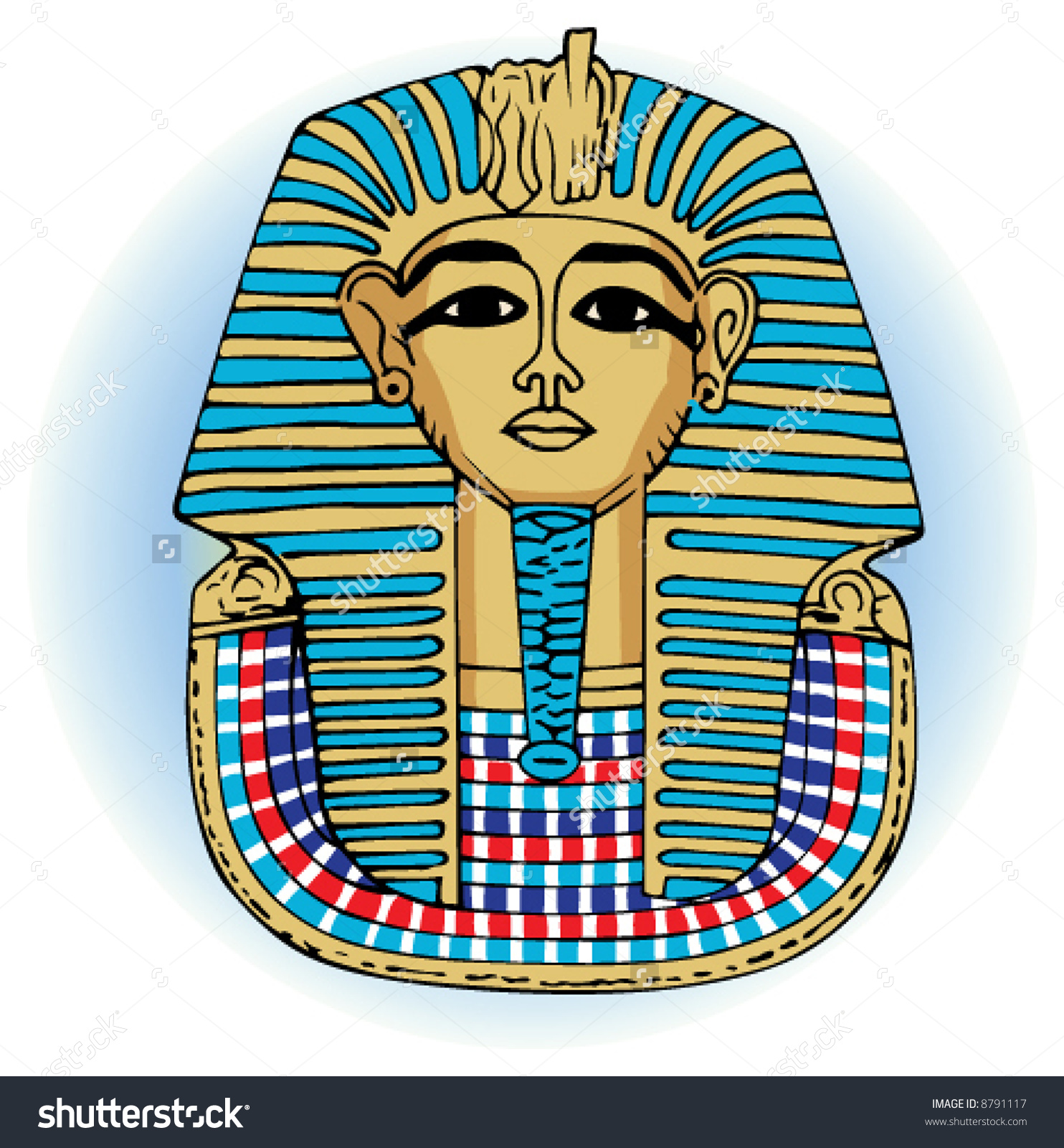 King Tutankhamen Vector Egyptian Death Mask Stock Vector 8791117.