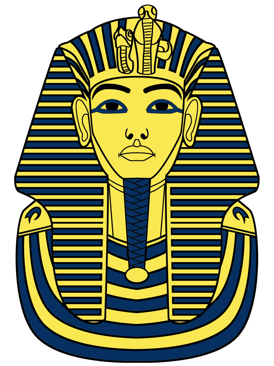 King tut mask drawing.