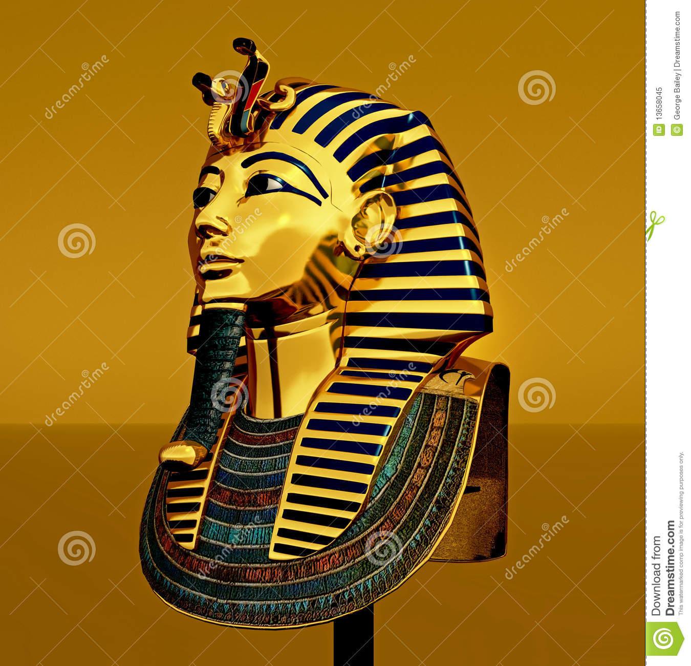 Pharaoh Death Mask Stock Illustrations.