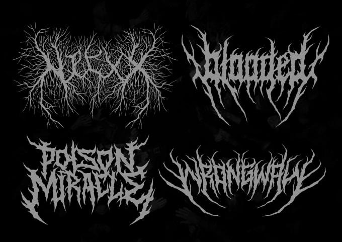 make custom brutal death metal logo for your band.