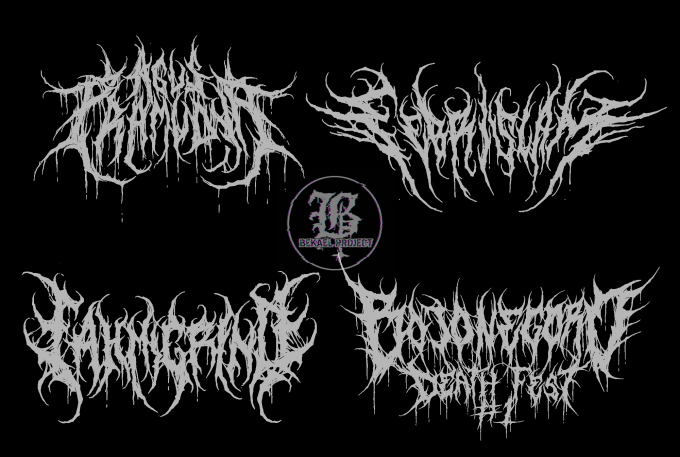 create unique brutal death metal logo for your band.