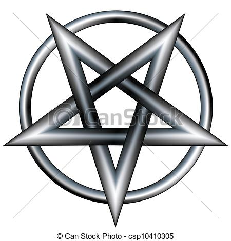 Vector Clipart of Metal pentagram vector.