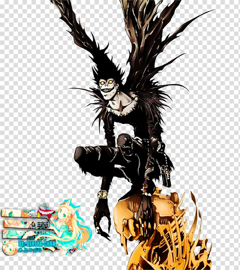 Ryuk Light Yagami Rem Death Note, death transparent.