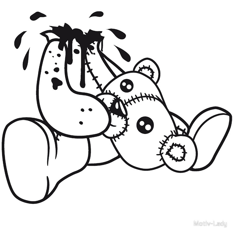 Death Of A Teddy Bear Clipart