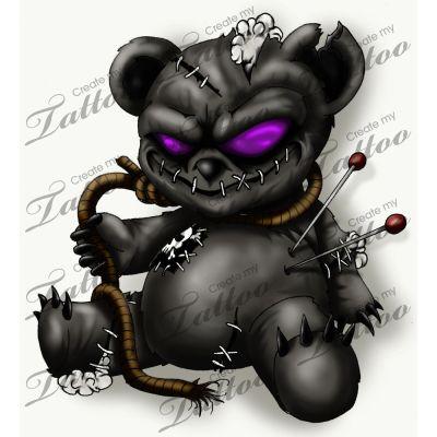 teddy bear tattoo.
