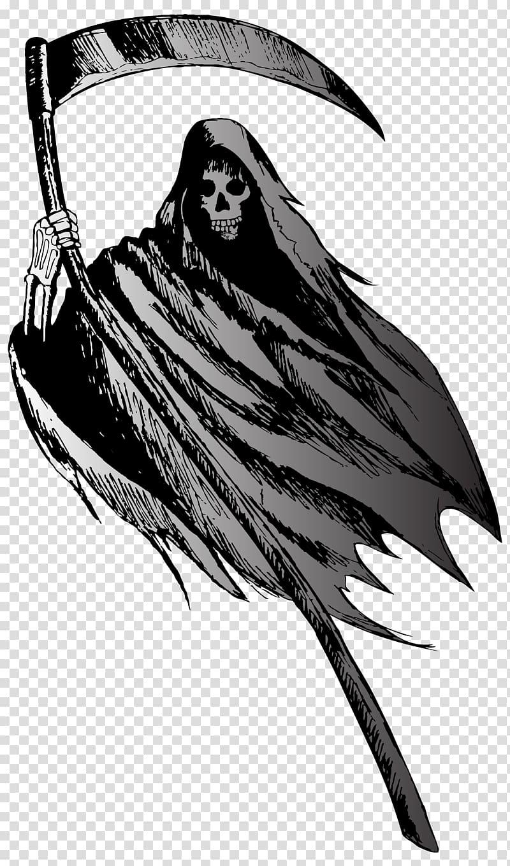 Grim reaper illustration, Death , Grim Reaper transparent background.