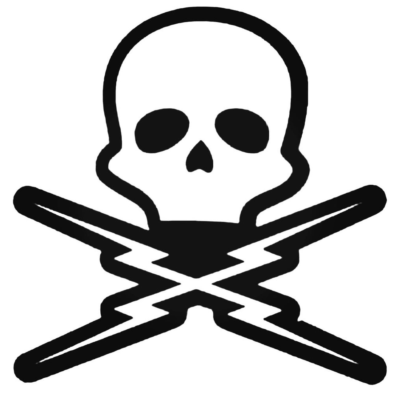 Grindhouse Death Proof Skull Decal Sticker.