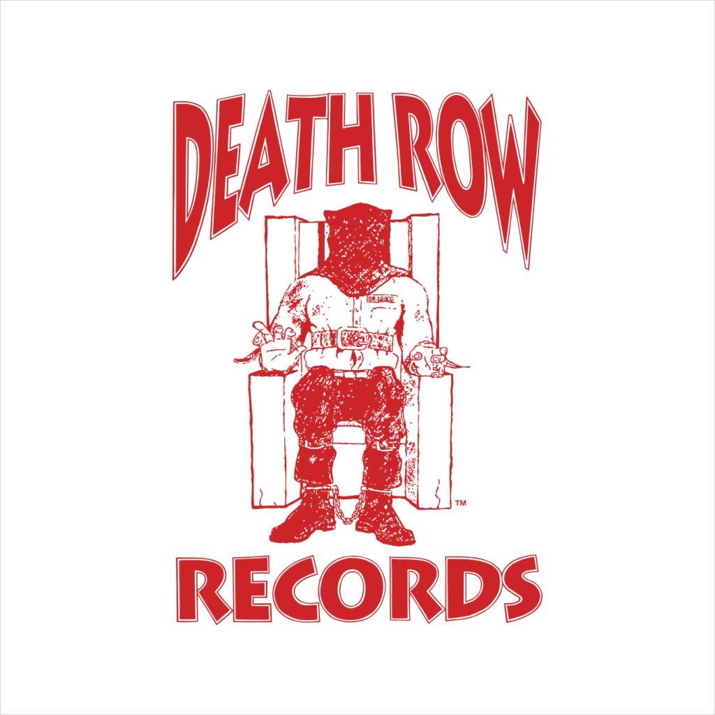 Amazon.com: Death Row Records Chair Logo Red Men\'s Hooded.