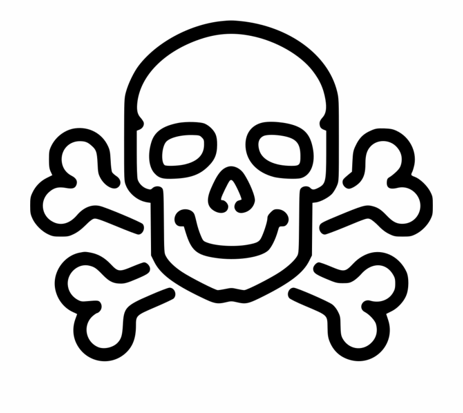 Poison Clipart Skull Bone Death Skull Drawing Png.
