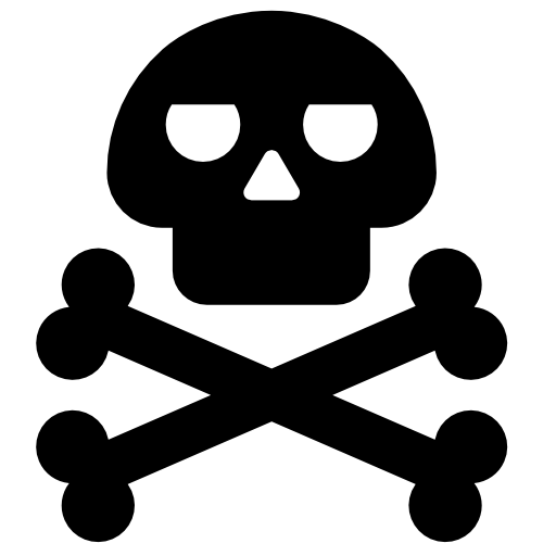 death skull flag png image.