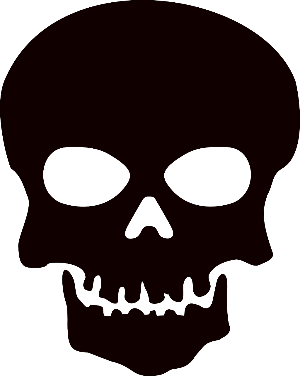 Death Skull Warning PNG.