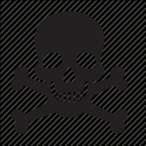 Attention, bones, death, skull icon #5247.