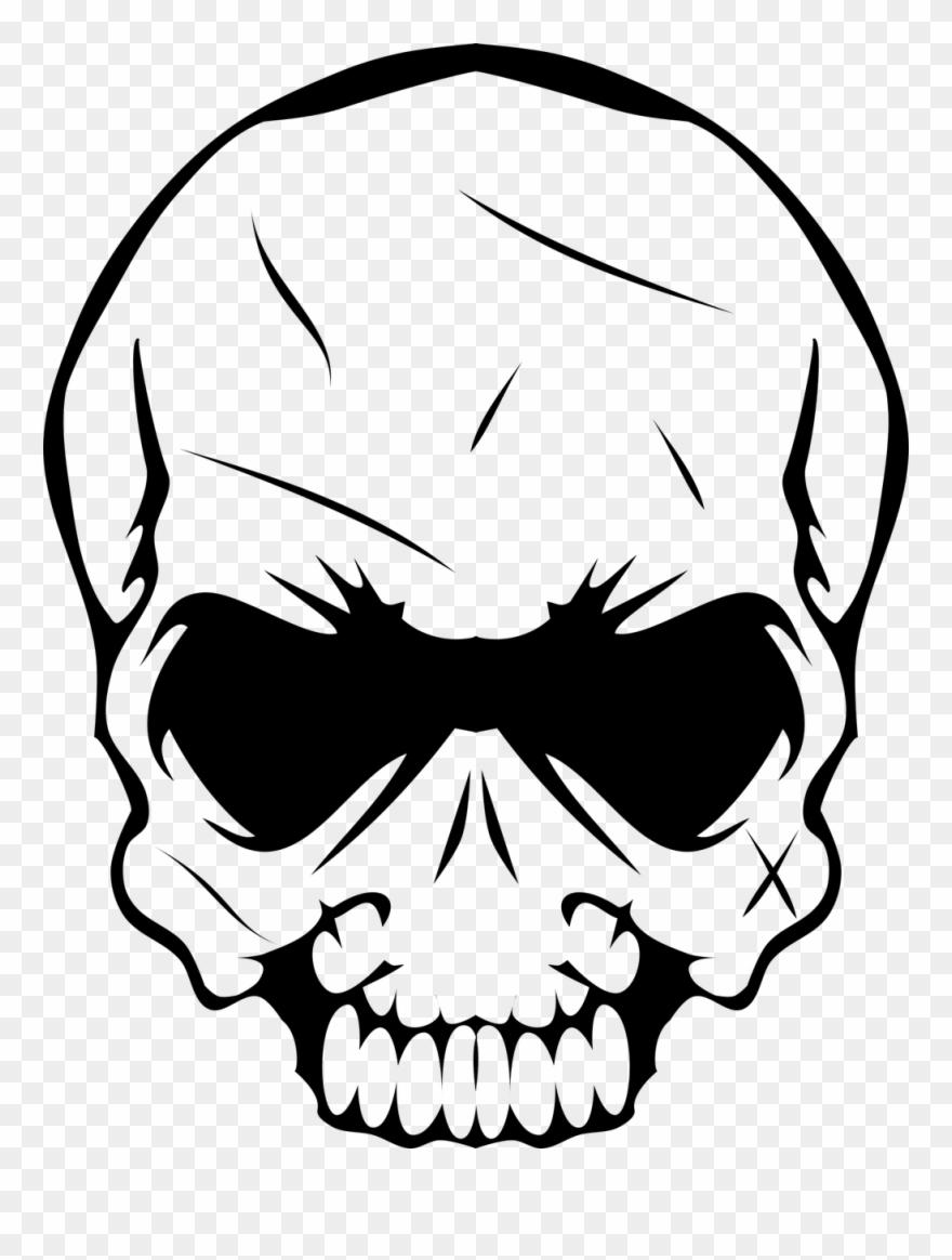 Head Skull Bones Skeleton Death Png Image.