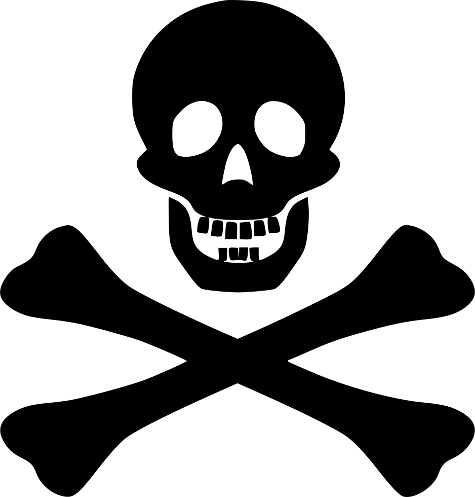 Death Skull Button Dead Symbol Svg Png Icon Free Download (#488688.