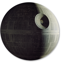 Star Wars Death Star Icon, PNG ClipArt Image.