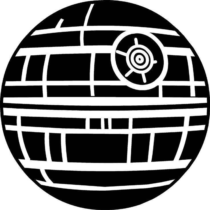 Load The Death Star Image Into Cricut Design Space.