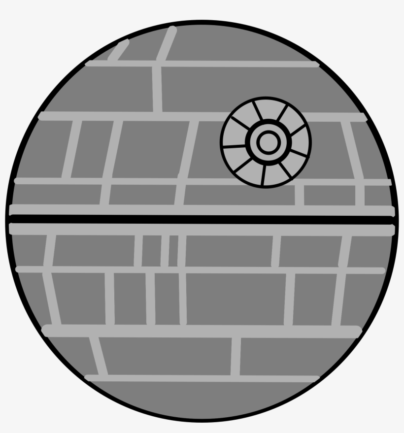 Death Star Banner Black And White Stock.