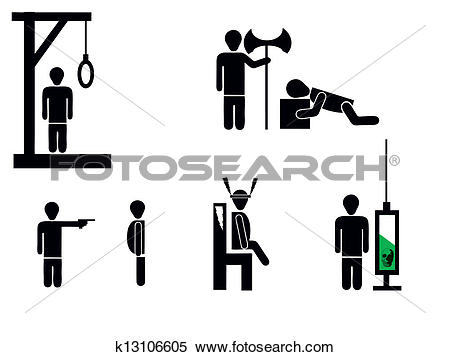 Clipart of death penalty k13106605.