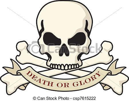 Vector Illustration of Death or Glory Skull logo.