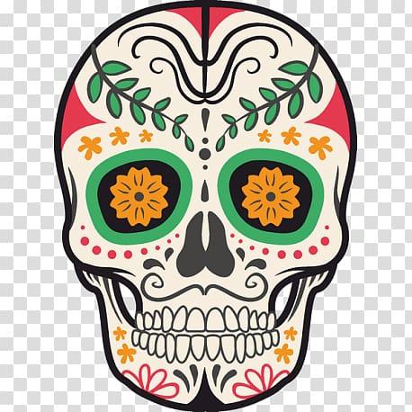 Paper Mexico Calavera Symbol Death, symbol transparent.
