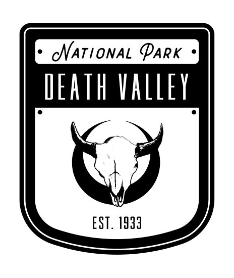 'Death Valley National Park California Badge' Poster by nationalparks.