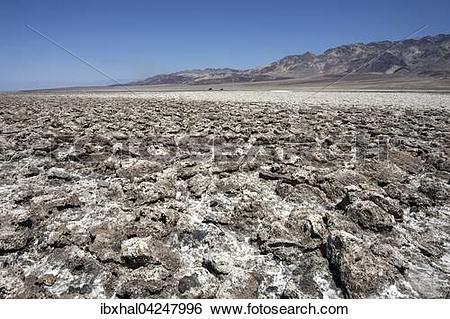Stock Images of Salt structures on Devil's Golf Course, Panamint.