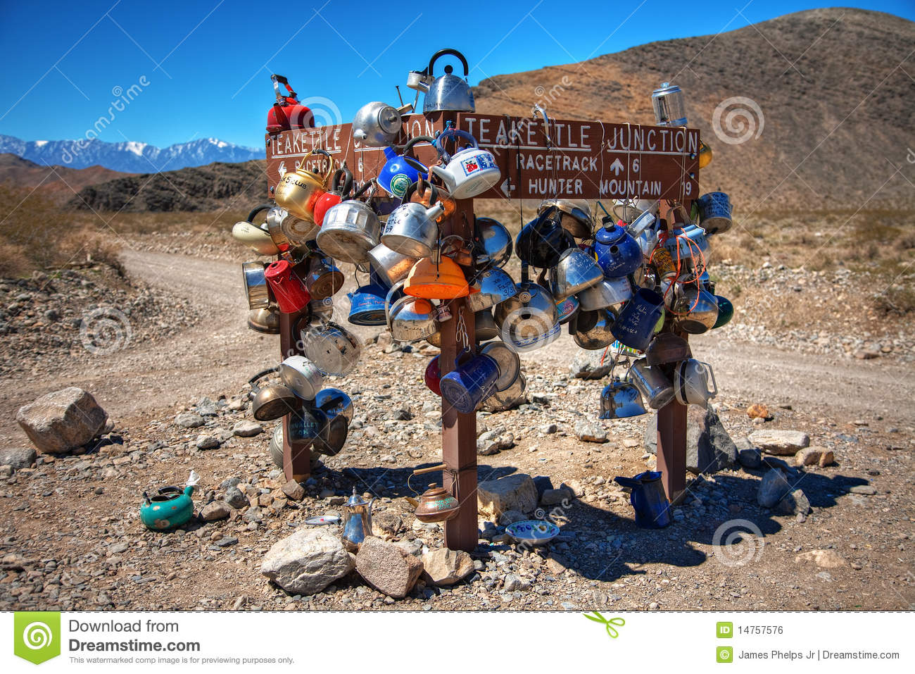 Teakettle Junction In Death Valley National Park Royalty Free.