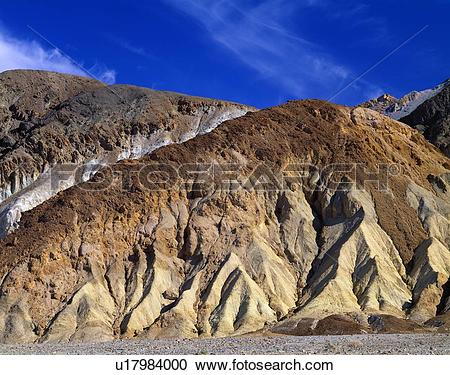 Stock Photography of Golden Canyon, Death Valley National Park.