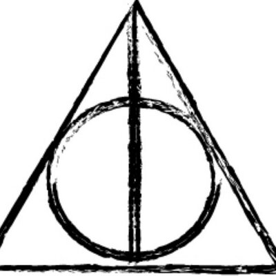 Collection of Deathly hallows clipart.