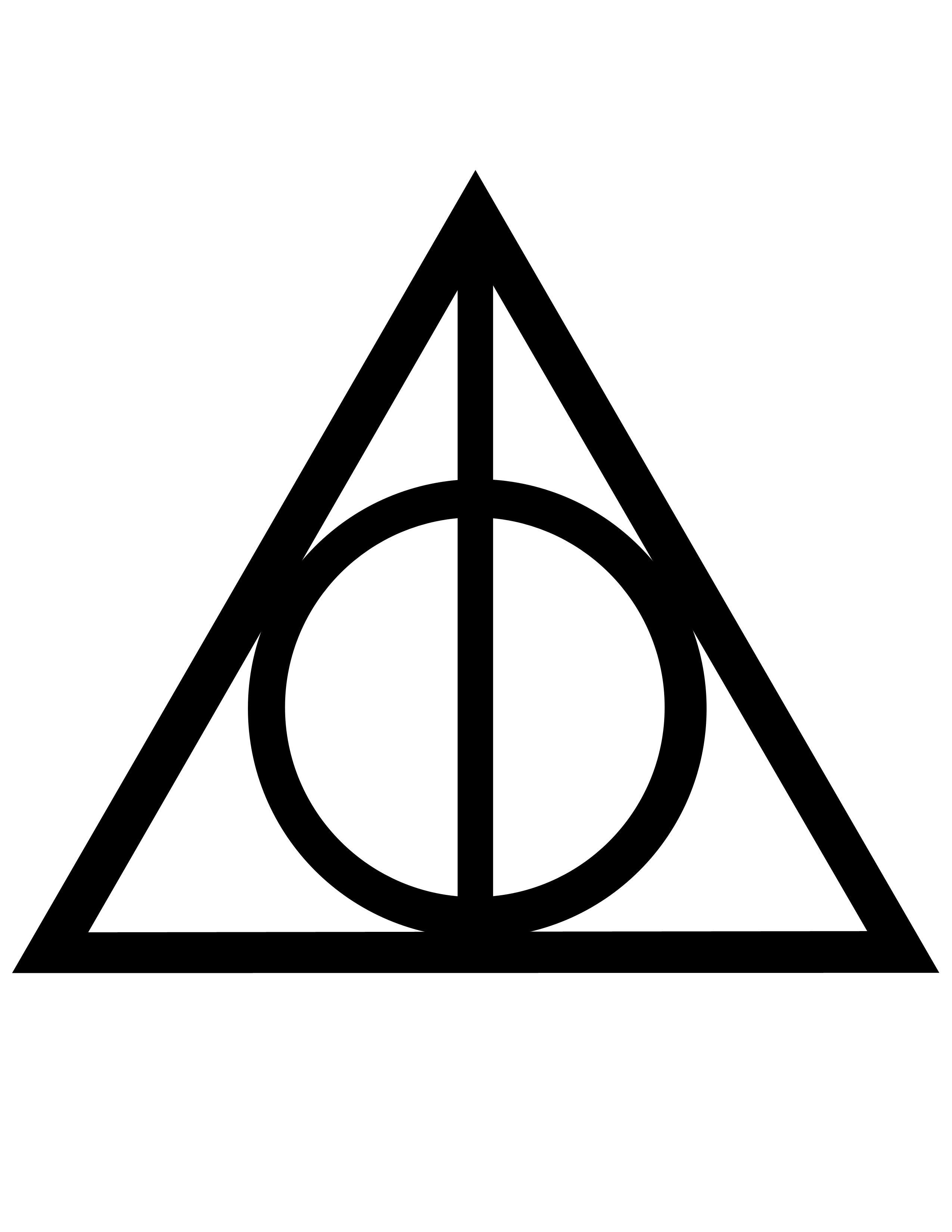deathly hallows symbol.