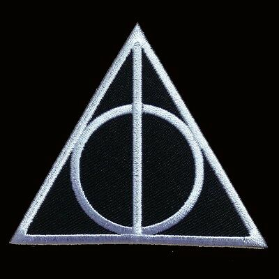 HARRY POTTER DEATHLY HALLOWS LOGO IRON ON PATCH BY MILTACUSA.