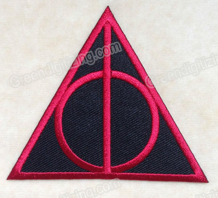 2019 Movie HARRY POTTER DEATHLY HALLOWS LOGO EMBROIDERY IRON ON PATCH BADGE  #RED DIY Applique Embroidered Badge From Jonnaean, $9.95.