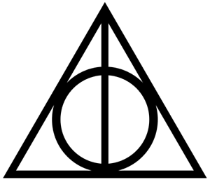 Details about Harry Potter Deathly Hallows Logo vinyl decal.