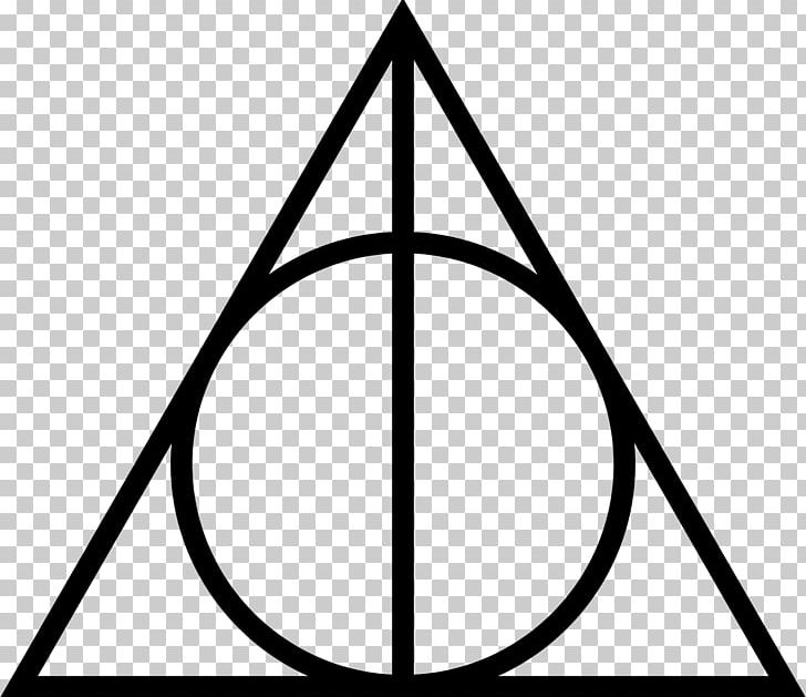 Harry Potter And The Deathly Hallows Triangle Symbol Circle PNG.