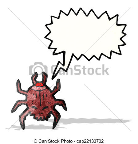 Vector Clipart of death watch beetle cartoon csp22133702.