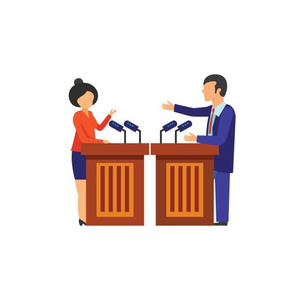 Best Debate Podium Illustrations, Royalty.