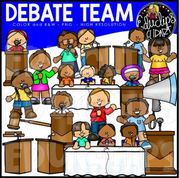 Debate Team Clip Art Set {Educlips Clipart}.