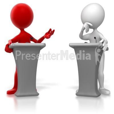 Debate animated clipart.