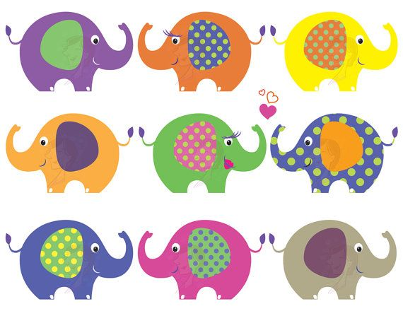 10 Elephant Clip Art Clipart Baby Elephant Animals Cute Pink.