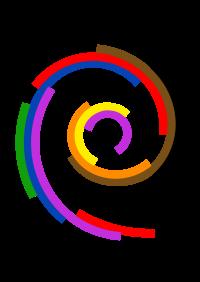 Debian logos.