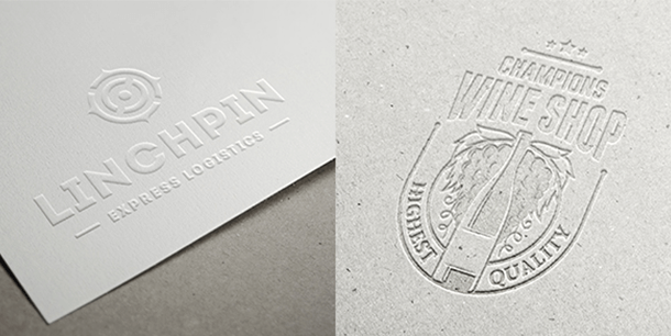 The Difference between Embossing and Debossing.
