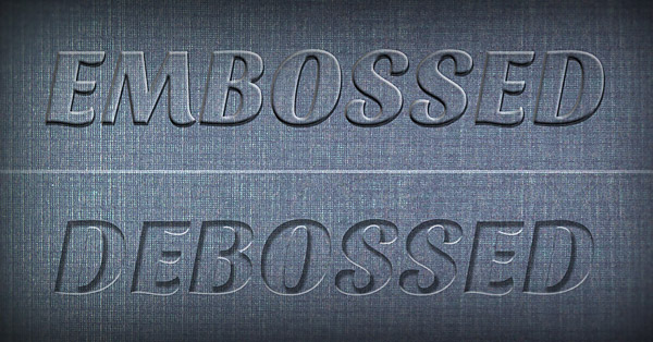 Create a Realistic Emboss/Deboss Effect in Photoshop (Tutorial).