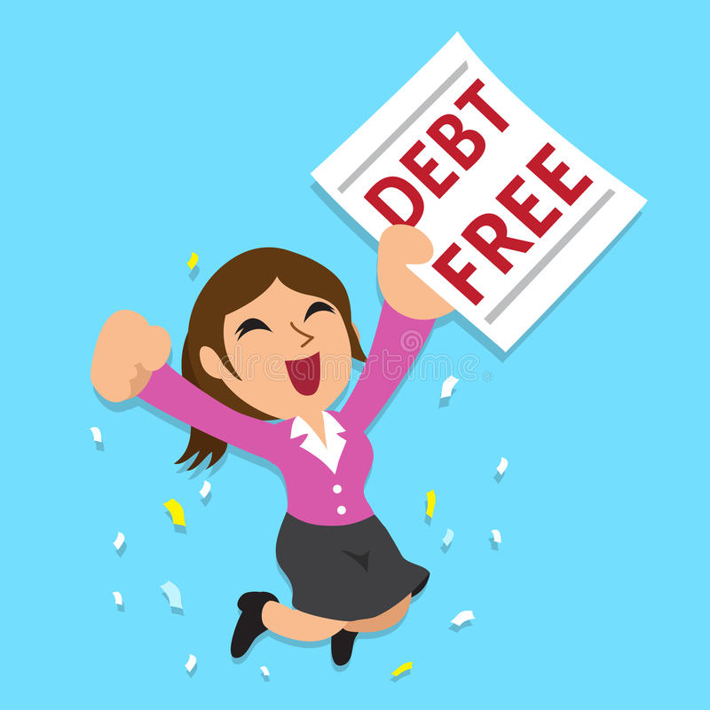 Debt Free Stock Illustrations.