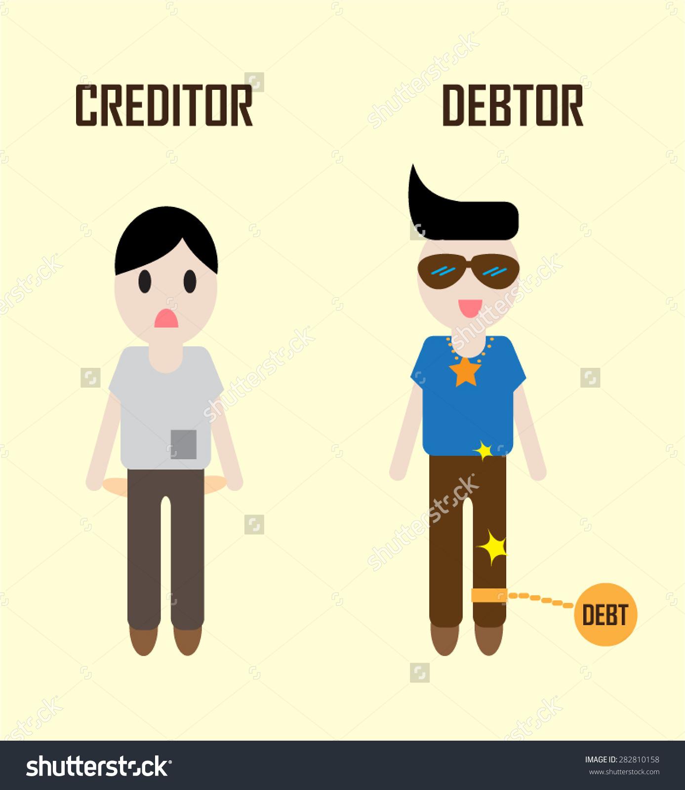 Vector Status Creditor When Debtor Dont Stock Vector 282810158.
