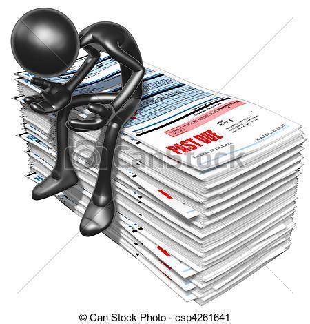 Debtor Illustrations and Clip Art. 457 Debtor royalty free.