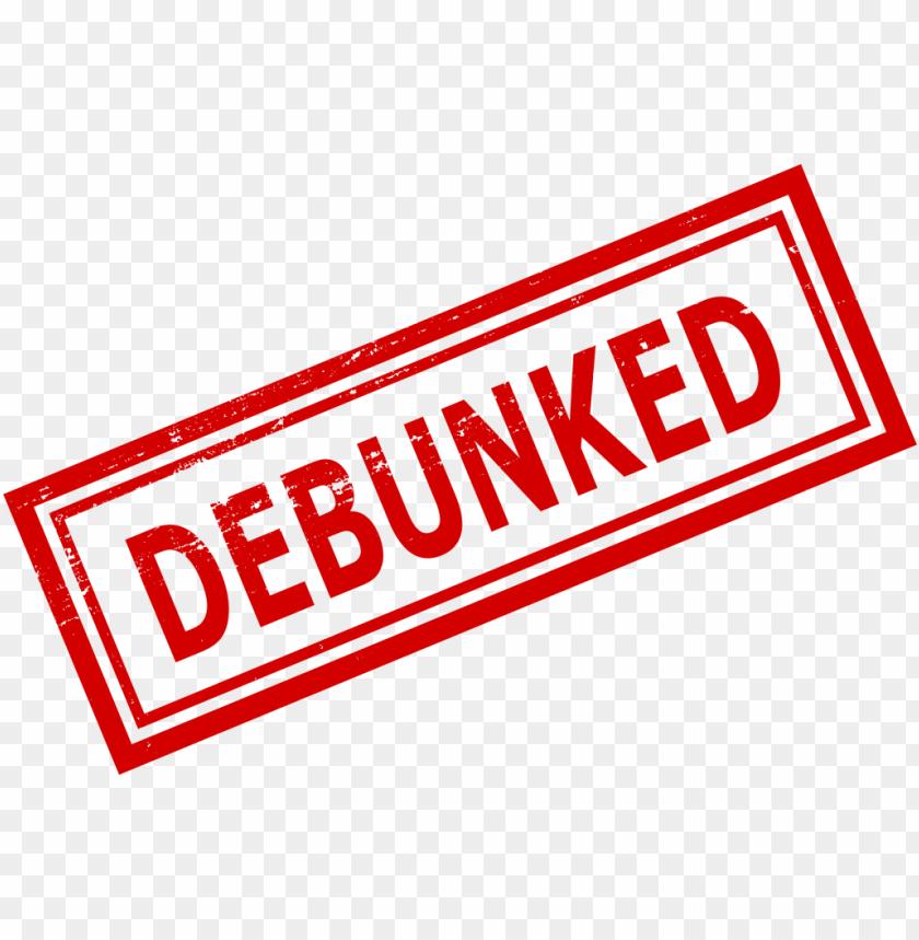 debunked stamp png.